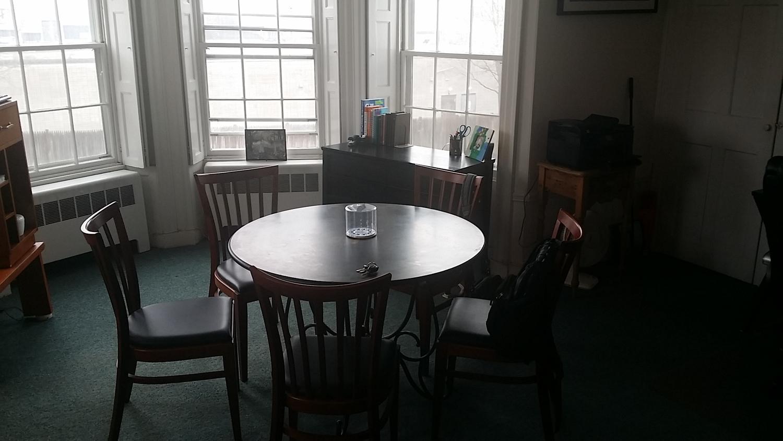 Chair, Furniture, Dining Room, Indoors, Interior Design, Room, Apartment, Building, Housing, Bathroom
